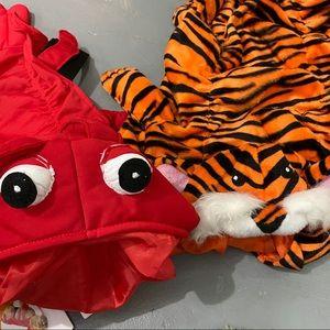 2/$16 Dog Costumes - Tiger & Lobster
